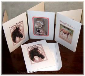 horse theme birthday cards