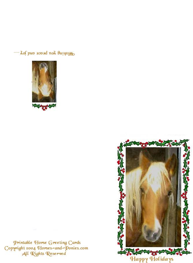 free birthday cards printable. It will also fit our Free Printable Horse Birthday Cards.